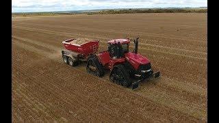 Case IH Quadtrac 500 and Agri-Spread AS150-T spreader. CTF. Esperance, Western Australia. MY AGRO