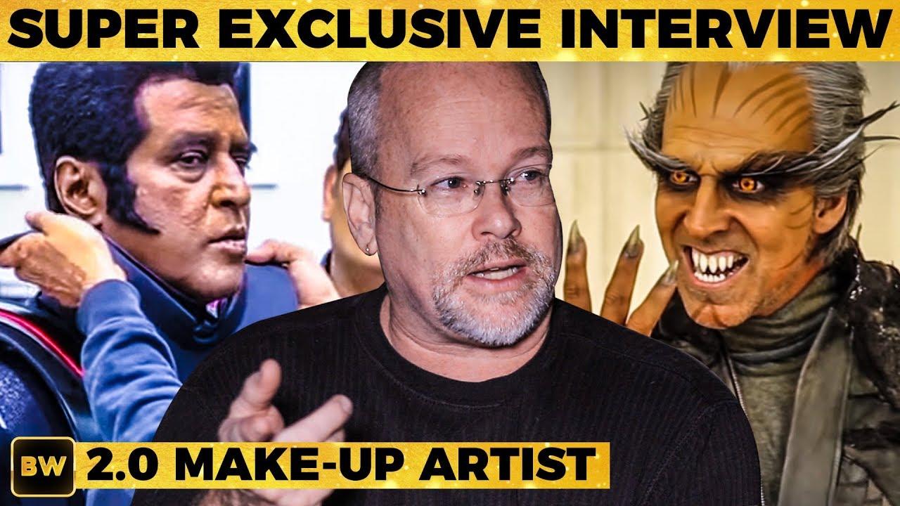 2.0 Rajinis Secret Look - The Man Behind Akshay Kumars Look   Rajinikanth   Shankar   MY 388