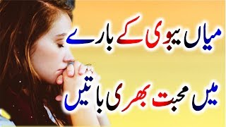 Urdu Amazing Quotes About Husband Wife|Mian Bivi Quotes|Husband Wife Quotes