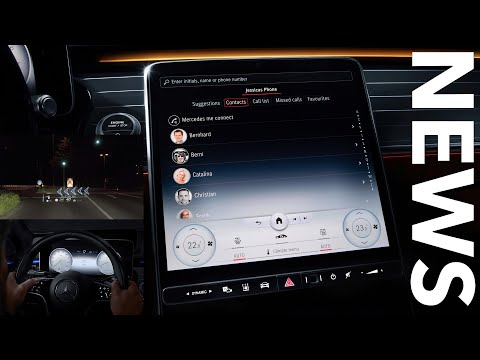 Interieur Design der 2020 Mercedes-Benz S-Klasse | Augmented-Reality Head-up Display | MBUX NEWS