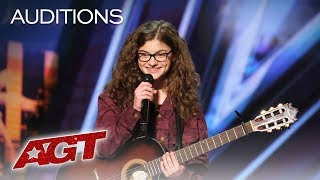 Teenager Sophie Pecora Sings And Raps About Bullying   America's Got Talent 2019