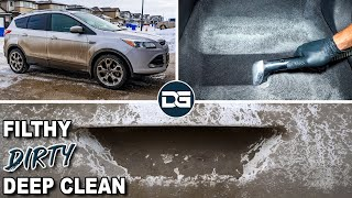 DEEP Cleaning A FILTHY Ford | Full Car Detailing And Incredible Vehicle Transformation!