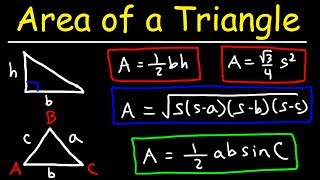 Area of a Triangle, Given 3 Sides, Heron's Formula