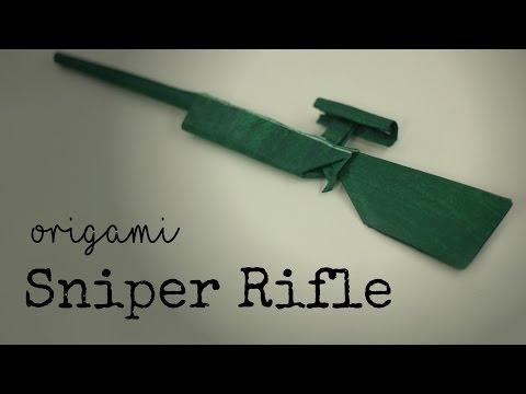 Easy Origami Sniper Rifle