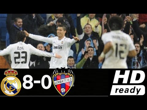 Real Madrid vs Levante 8-0 - All Goals & Extended Highlights - Copa Del Rey 23\12\2010 HD