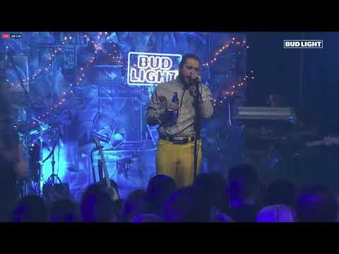 Download Post Malone White Iverson Perforance Bud Light Dive