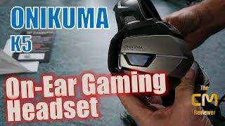 ONIKUMA K5 Test: On-ear Gaming Headset (Hands-on, Deutsch)