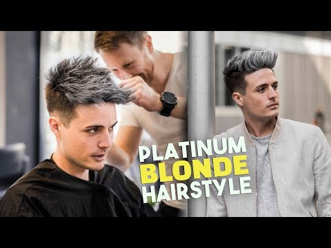 Platinum Blonde Hair TRANSFORMATION   Men's Hairstyle Tutorial   BluMaan 2018