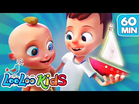 Row, Row, Row Your Boat - Best Nursery Rhymes with Johny and Friends | LooLooKids