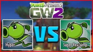 """""""ABILITY COMPARISON"""" HYPER & SUPER PEA JUMP - Plants vs Zombies Garden Warfare 2"""