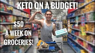 KETO GROCERY SHOPPING ON A BUDGET! $50 LIMIT!