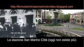 preview picture of video 'La ferrovia Rimini-San Marino come era e come è (in movimento)'