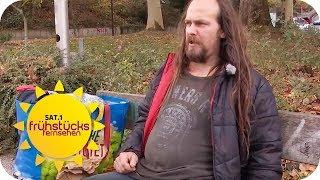 Bußgeld für Obdachlose! Warum verteilt der Staat Bußgeldbescheide? | SAT.1 Frühstücksfernsehen | TV