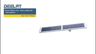 Solar Street Light - 6000 Lumens LED - with Remote SKU #D1776408