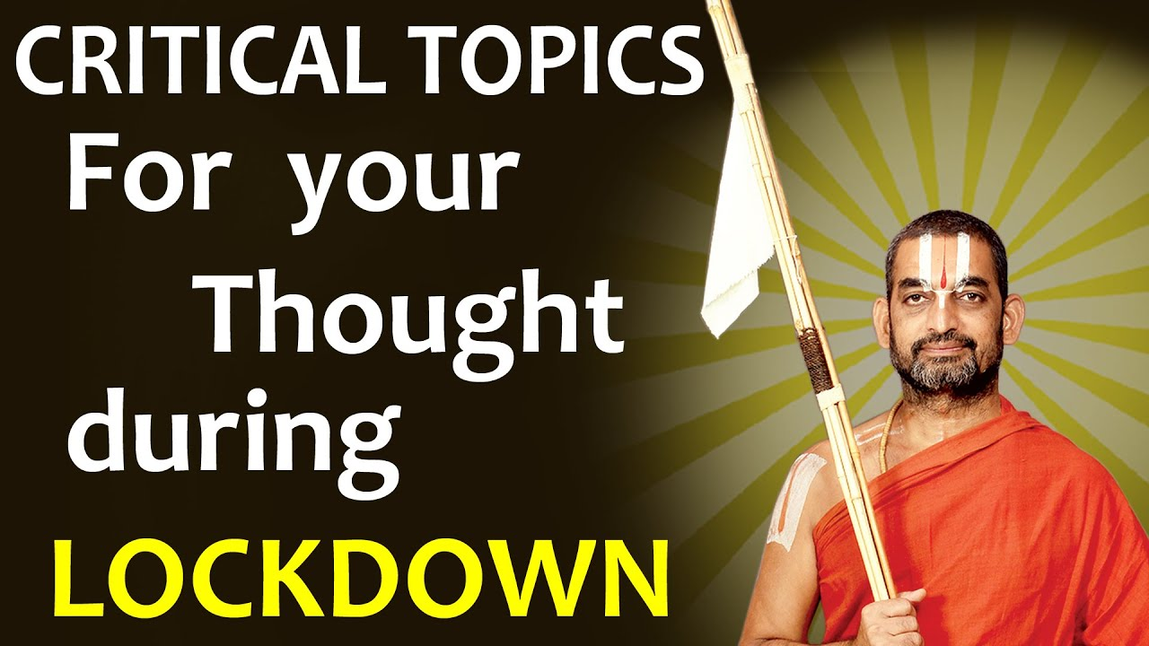 Critical Topics for your Thought during Lockdown || Sri Chinna jeeyar Swamiji || JETWORLD