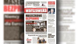 """PL1   """"Warszawska Gazeta"""" nr 43/2020 i co tam Panie w polityce?"""