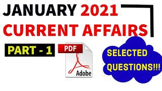 January 2021 current affairs (Selected Questions) -Monthly | Exam Focus | Part-1