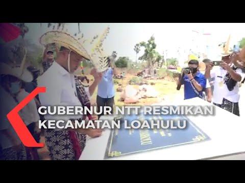 gubernur ntt resmikan kecamatan loahulu