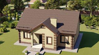Проект дома 115-C, Площадь дома: 115 м2, Размер дома:  10,4x13 м
