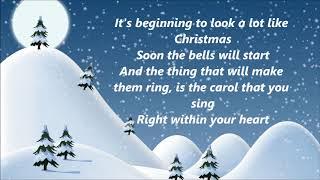 Johnny Mathis - It's Beginning To Look A Lot Like Christmas (Lyrics)
