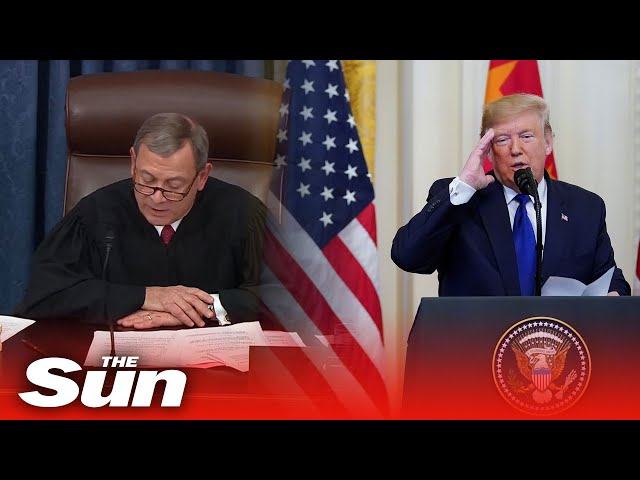 The moment Donald Trump is cleared of both articles of impeachment