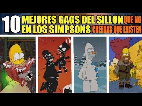 10 MEJORES GAGS del SILLON en LOS SIMPSONS que NO creeras que EXISTEN