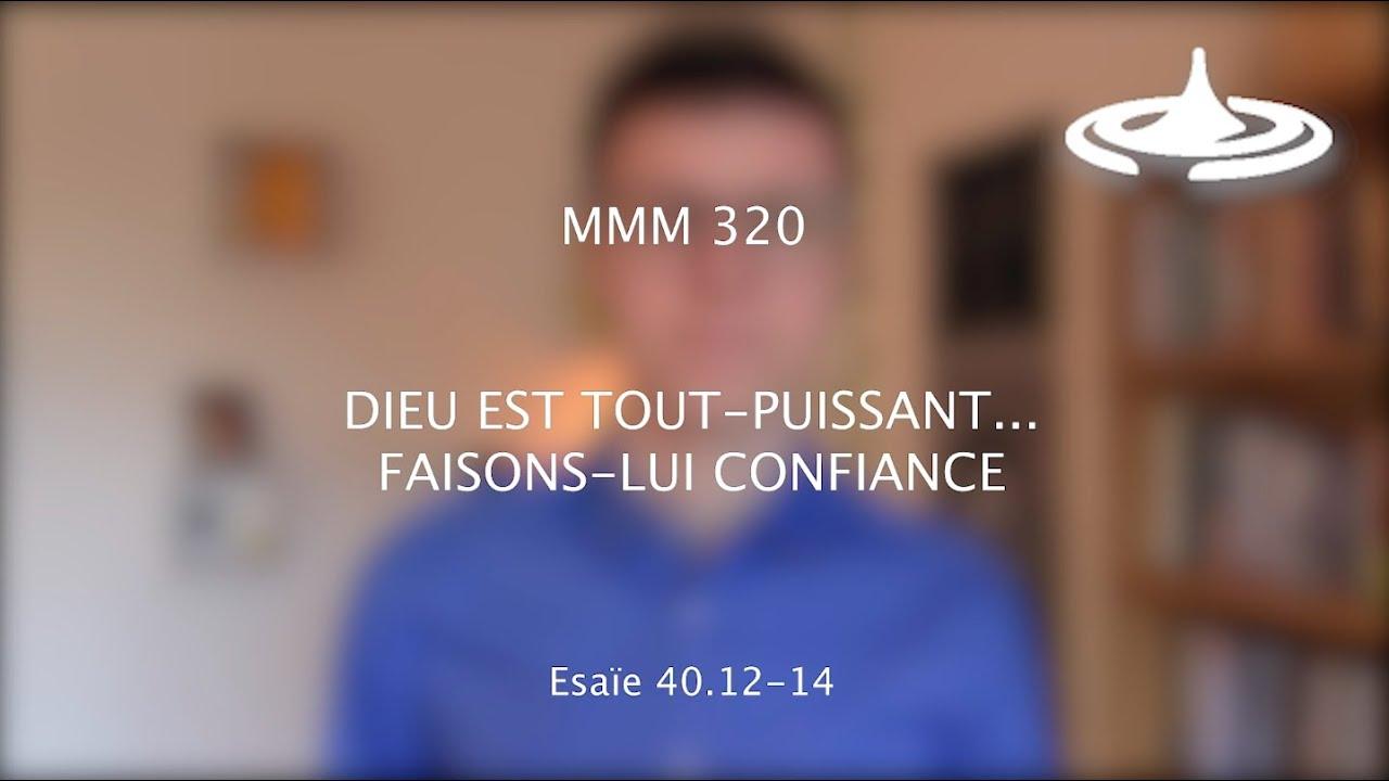 Dieu est tout-puissant… faisons-lui confiance (Es 40.12-14)