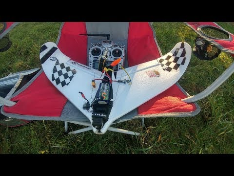 atshark HDO  DVR from FTC Hunter 680 racing wing using  ImmersionRC rapidFIRE module