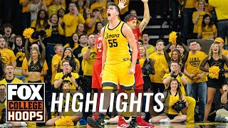 Iowa holds off Rutgers behind 28-pt, 13-rebound game from Luka Garza | FOX COLLEGE HOOPS HIGHLIGHTS