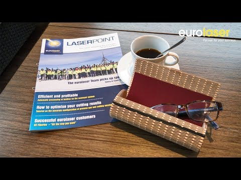 Spectacle case made of plywood | Laser cutting