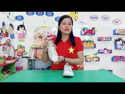Hướng dẫn trẻ 5-6 tuổi buộc dây giầy : Cô giáo Triệu Thị Quế