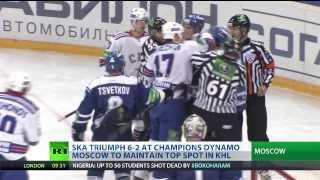 Kovalchuk, Komarov in punch-up as SKA rout Dynamo 6-2 in KHL