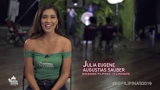Julia Eugene Saubier Binibining Pilipinas 2019 Introduction Video