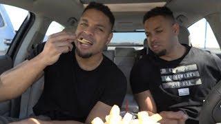 Eating Farmer Boys Pastrami Sandwich @hodgetwins