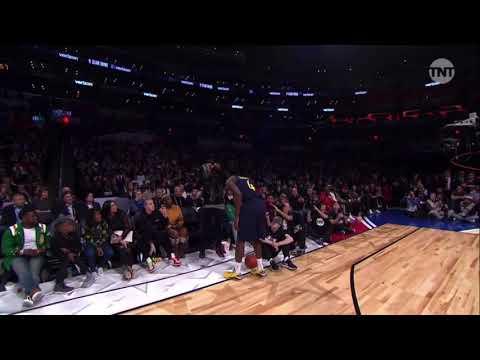 Chadwick Boseman puts Black Panther mask on Victor Oladipo: NBA Slam Dunk Contest
