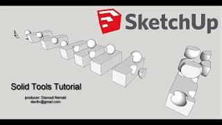 SketchUp solid tools tutorial