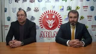 Пресс-конференция «Арлан»-«Темиртау» счет в серии (4 -3)
