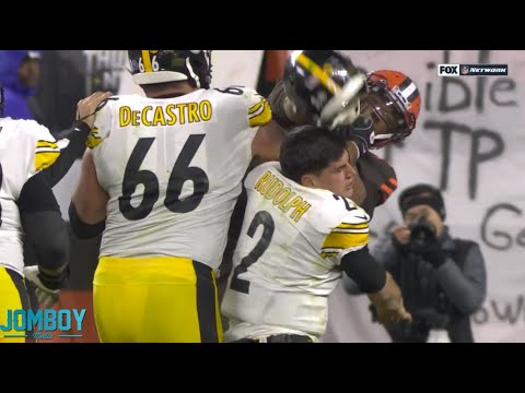 Myles Garrett hits Mason Rudolph in the head with his own helmet, a breakdown