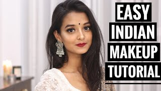 TRADITIONAL INDIAN MAKEUP TUTORIAL | SIMPLE & EASY