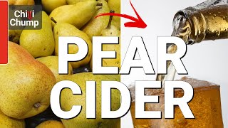Making Pear Cider / Perry ...easy, fool-proof and tasty!