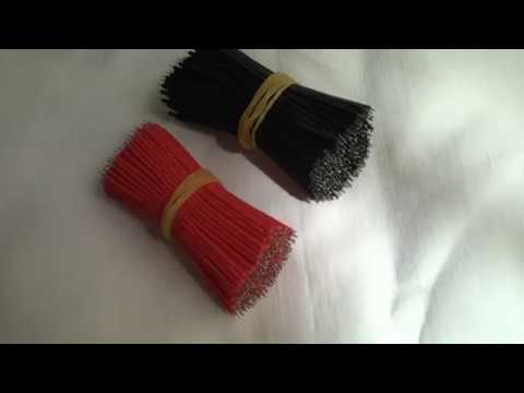 Colore rosso 400pcs 6 centimetri fili elettronici cavo di avviamento tagliere nero