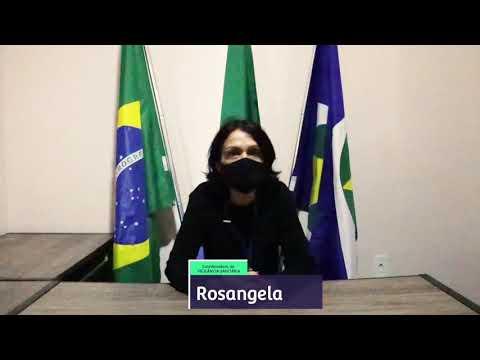 Rosangela coordenadora da Vigilância Sanitária  fala sobre a prevenção do COVID-19.