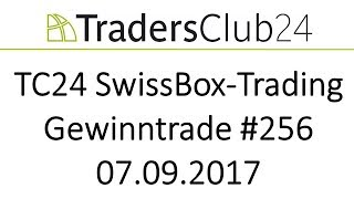 TradersClub24 SwissBox OpenRange Breakout Live Trade Dax am 07.09.2017