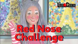 Red Nose Challenge 🔴 Circus Clown Makeup 🎩 Magic
