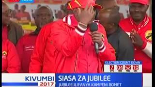 Rais Uhuru Kenyatta waendelea kuusuta muungano wa NASA katika kampeini za Kisii, Kakamega na Bomet
