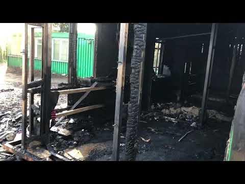 Wideo1: Spłonął barak socjalny przy leszczyńskich kortach