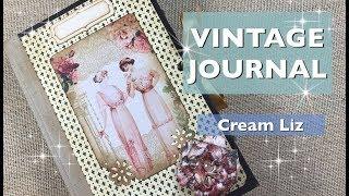 VINTAGE JOURNAL - Cream Liz - Estúdio Brigit
