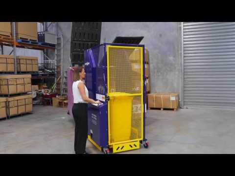 Universal powered bin lifter - 250kg capacity
