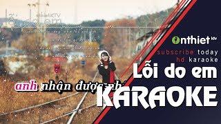 Lỗi Do Em - Miko Lan Trinh | HD KARAOKE