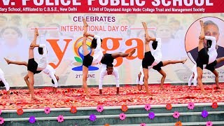 21 June International Yoga day performance by yoga saathi team